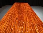 巴花实木大板桌餐桌办公桌会议桌