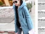 2014新款女装棉衣女棉服中长款韩版修身大衣外套加厚