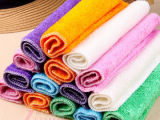 韩国超细天然竹纤维洗碗巾/不掉毛 不沾油洗碗布/竹炭去油污抹布