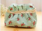 日韩可爱印花小包 贝壳形蕾丝化妆包 零钱包