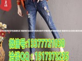新款厂家直销加绒女式牛仔裤批发外贸原单库存牛仔裤5元批发