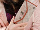 泰迪小熊长款女式钱包日韩欧美复古可爱钱包信封式花朵印花钱夹
