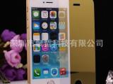 苹果5彩色玻璃膜 土豪金彩色玻璃膜彩膜