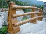西藏日喀则塑石水泥仿木护栏厂家,混凝土仿木围栏