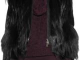 欧美风格皮草批发 YR-611 好品质金丝山羊毛加绵羊皮夹克