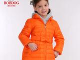 巴布豆童装儿童羽绒服女童羽绒服中长款2014冬季新款童装冬季外套