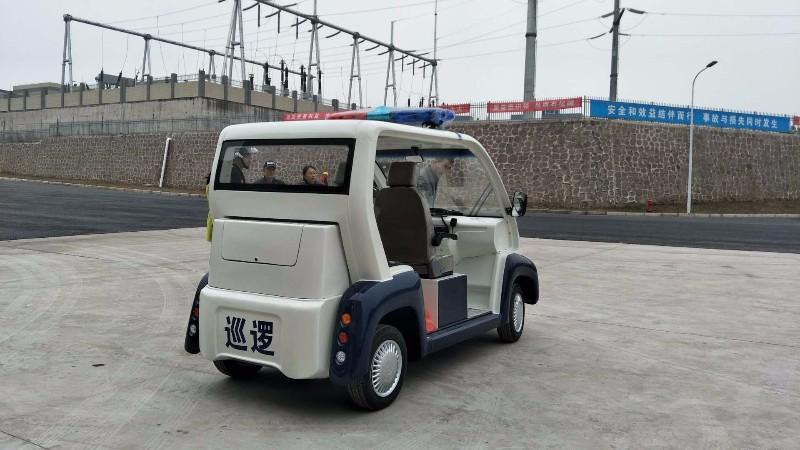 工厂园区电动巡逻车,四座敞篷式四轮电动车