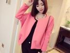 2014秋季女装新款外套 韩版气质 空气层柔美色轮廓小西装 女外套