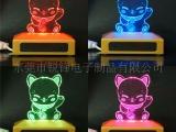 礼品灯 USB插座七彩发光卡通灯 创意小夜灯饰品