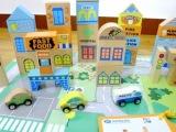 特价 50PC城市积木 儿童早教益智木制启蒙大块木质实木拼插玩具