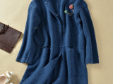 2014秋冬韩国毛衣外套女长款开衫韩范加厚宽松毛衣针织开衫大衣