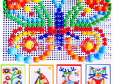 蘑菇钉拼插玩具 拼插积木 智力蘑菇钉拼图玩具