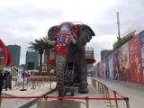 懷化專業廠家制作生產機械大象 高度仿真大象租賃