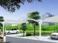 车棚膜结构停车棚推拉棚伸缩帐篷雨棚遮阳棚膜结构工程