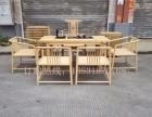 新中式工夫桌茶台禅意功夫茶桌椅?#26700;?#26408;免漆茶几茶台