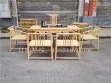 新中式工夫桌茶台禅意功夫茶桌椅白蜡木免漆茶几茶台