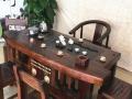 嘉兴古船木茶台灯架批发老船木茶桌椅组合仿古实木茶艺桌