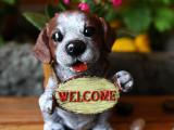2014新式爆款创意多肉动物摆件 树脂塑料仿真宠物狗花盆厂家批发