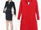 现货批发 欧美2013秋季新款女装修身包臀裙开叉袖一步裙连衣裙