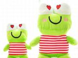较新款儿童毛绒玩具 卡通绿色青蛙王子公仔 创意亲子毛绒玩偶批发