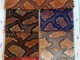 最新网格蛇皮布环保仿pu皮革现货供应厂家直销鞋材箱包手袋面料