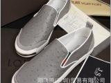 厂家直销欧洲站大牌新款真皮时尚休闲男鞋平跟英伦风潮流板鞋批发