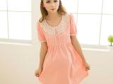批发 孕妇夏装 韩版蕾丝圆点短袖连衣裙 厂家直供 一件代发