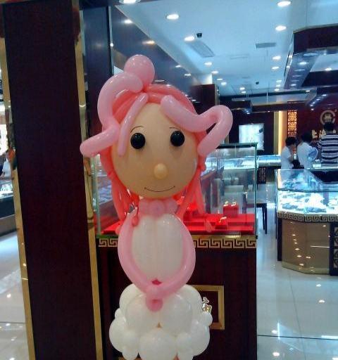 嘉兴气球布置 生日派对气球装饰 商场开业气球拱门