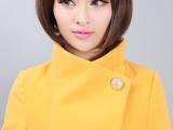 韩版十三行冬装女装立领毛呢厚外套韩国东大