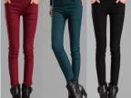 秋冬新款修身外穿打底裤女装大码加绒加厚显瘦韩版小脚长裤