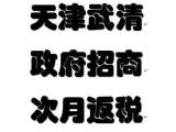 天津市武清区政府直招(返税)0元注册执照