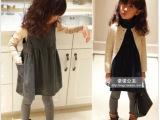 自留 高端 大气 气质款韩味毛呢女童背心裙款式版2013冬装连衣
