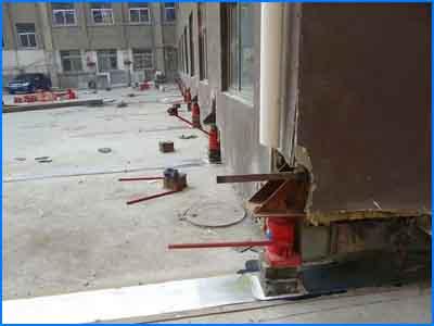 元源混凝土供应良好的房屋平移——甘肃房屋纠偏