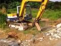 光明挖掘机出租 松岗挖机出租 石岩炮机出租