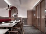 西安300平米美食店装修设计图
