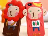 韩国罗马尼森林家族手机外壳 苹果iphone5 4S/4 卡通手