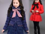2014冬装女大童儿童羽绒棉加厚棉衣毛领韩版外套棉袄厂家批发
