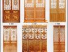 实木门窗、花格、衣柜、背景墙、推拉折叠门窗、楼梯等