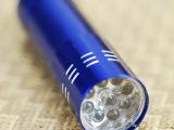 迷你9灯LED强光手电筒 铝合金电筒 便携防水户外手电 吸卡装
