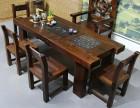 老船木客厅茶桌椅泡茶桌阳台小茶几沙发茶几办公会客家具