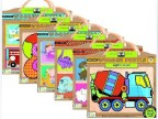 GREEN START动物车辆拼图拼板 木制益智儿童玩具 1-3岁宝宝6款选