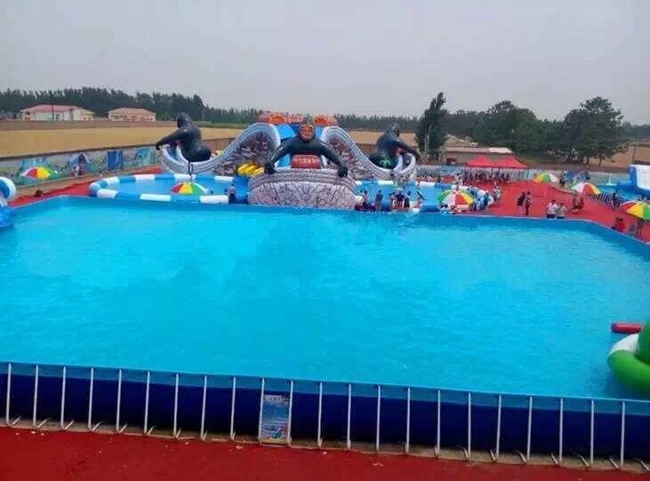 天蕊游乐供应水上乐园水滑梯各种款式规格水上漂浮物支架水池襄樊