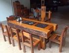 万豪老船木家具船木实木功夫茶几茶台泡茶桌椅组合