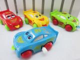 上链汽车总动员 自动转弯 眼睛舌头会动发条玩具汽车 小汽车