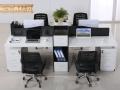 重庆办公桌屏风位批发办公钢架组合桌电脑桌简易双层铁床定制公司