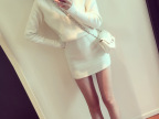 2014名媛新品韩国高领修身显瘦百搭高品质仿羊毛针织包臀连衣裙女