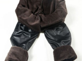 爆款韩版紧身外穿加绒加厚保暖冬款女士仿皮打底裤亚光皮裤长裤