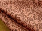 2014冬装布料 砖红色玫瑰暗花羊毛呢料 洋气大衣花朵印花裙子面料