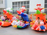 新款景区亲子儿童碰碰车广场双人彩灯充气电瓶车