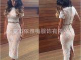 速卖通亚马逊ebay2015春季最新爆款两件套时尚蕾丝裙连衣裙